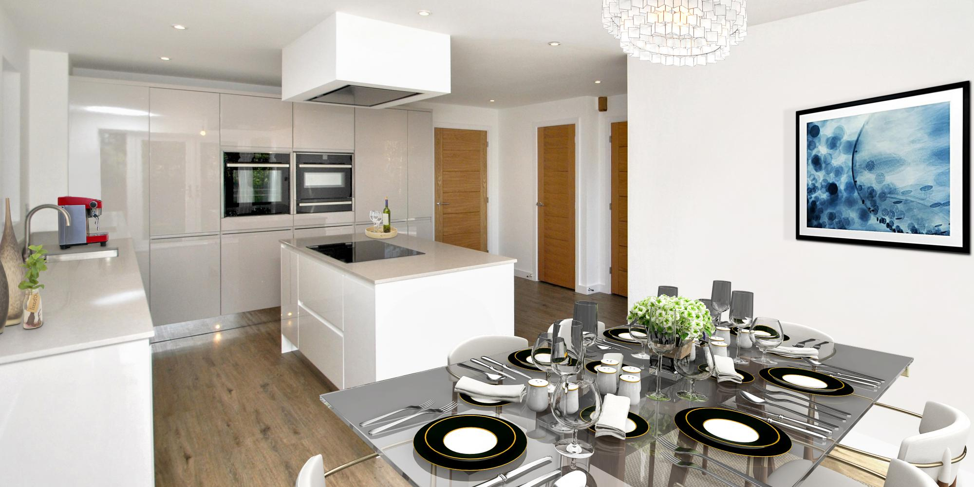 Plot 6 Kitchen The Pines Westward Ho North Devon by Chichester Developments